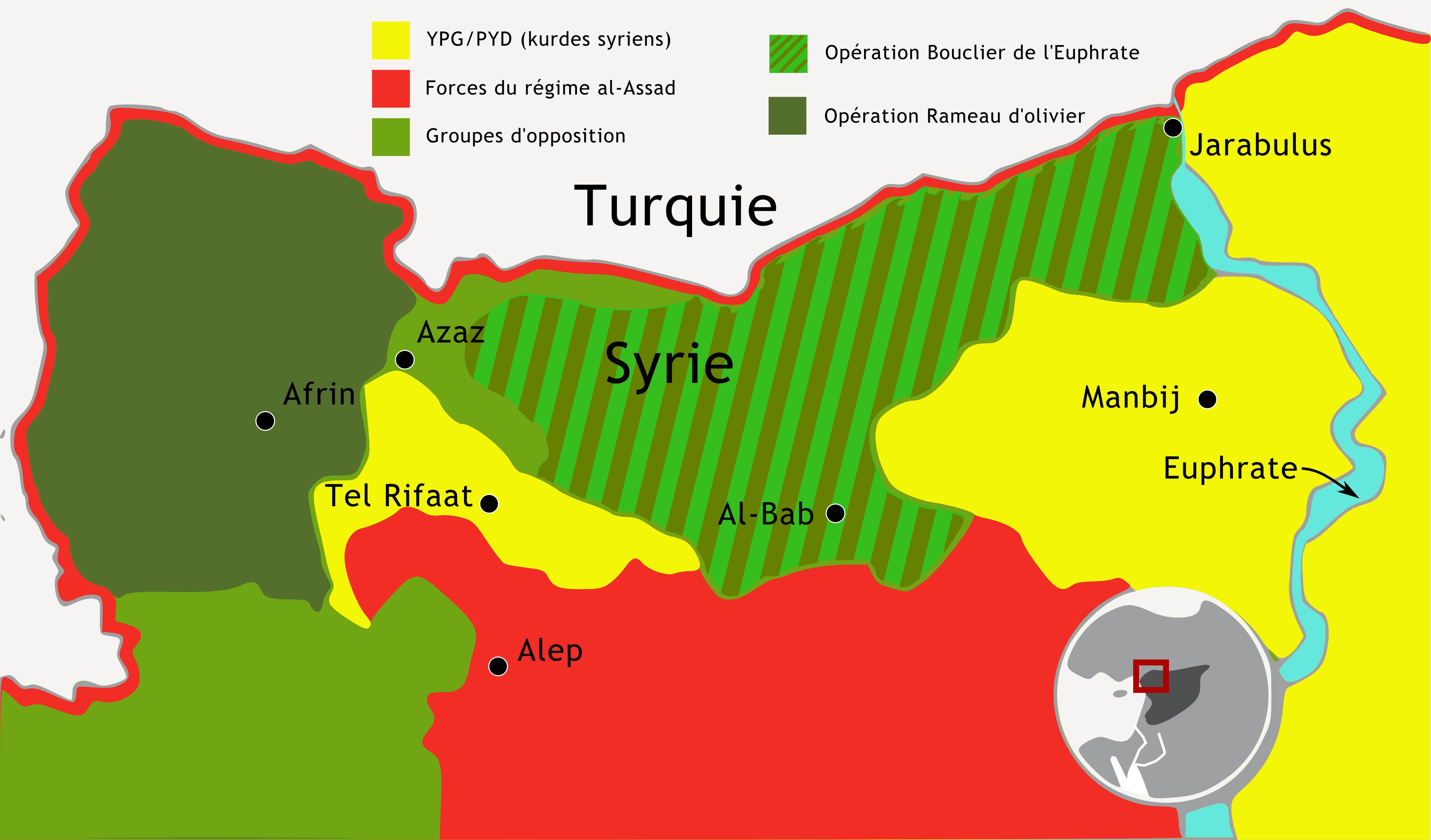 Carte de l'opération turque